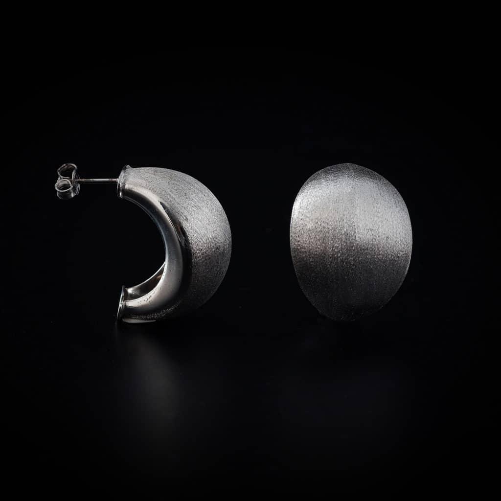 Boucle d'oreille en argent collection O bijouterie Côté Argent Castres