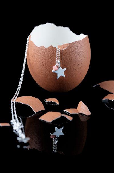 Oeuf et collier argent étoile bijouterie Côté argent Castres